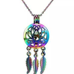 Jewelry - Multicolrs Lotus Flower Dream catcher necklaces